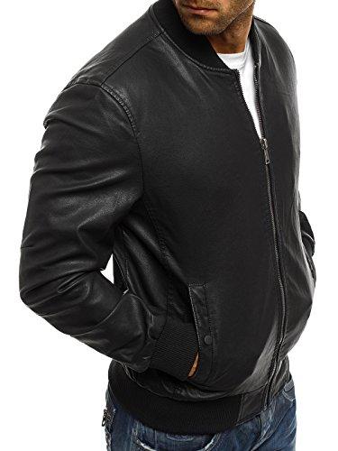 OZONEE Herren Jeansjacke Übergangsjacke Jacke Denim Sweats Sweatjacke Frühlingsjacke Jeans OTANTIK 474 Schwarz_JB-1035