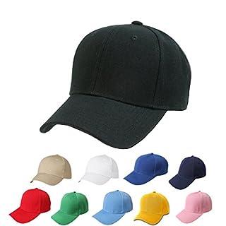 ANAM 6Panel Herren Baseball Cap mit verstellbarem Klettverschluss, Uni Struktur Hat Einheitsgröße schwarz