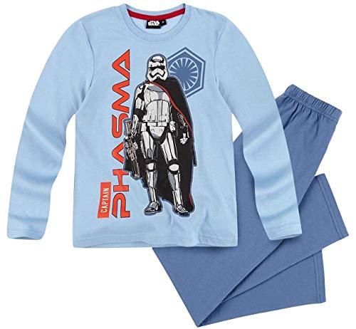 Star Wars Pyjama Jungen Schlafanzug Captain Phasma (Blau, 140)