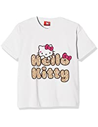 Hello Kitty Girl's Leopard Text T-Shirt