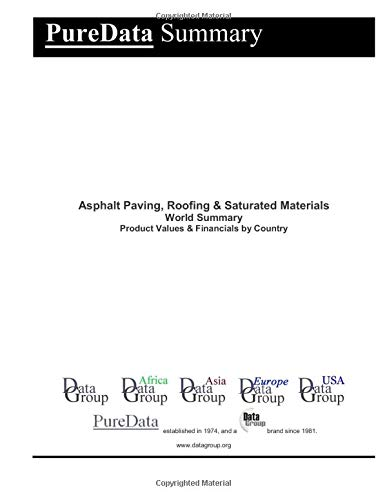 Asphalt Roofing (Asphalt Paving, Roofing & Saturated Materials World Summary: Product Values & Financials by Country (PureData World Summary, Band 1155))