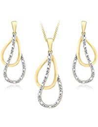 Damen-Halskette mit Anhänger 9 Karat (375) Gelbgold 1.44.8964