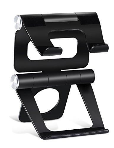 Alu Ständer für Tablet & Handy, Ipow Doppel-270 Grad-Winkel iPad Ständer verstellbare Stand Halter für die Meisten Tablets, E-Reader und Smartphones wie iPad Serie iPad Air Mini iPhone X 8 7 6 6Plu