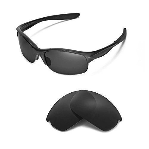 Walleva Ersatzgläser für Oakley Commit SQ Sonnenbrille - Mehrere Optionen (Schwarz - polarisiert)