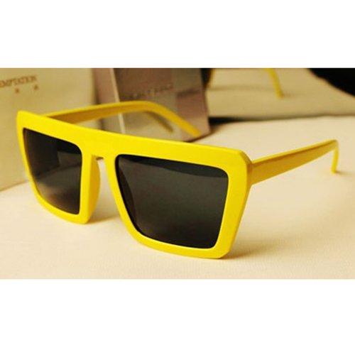 lentilles carrés lunettes de soleil optique temple verres protecteurs(Jaune) udVnDOut