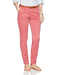 TOM TAILOR Damen Hose Slim Chino with Belt