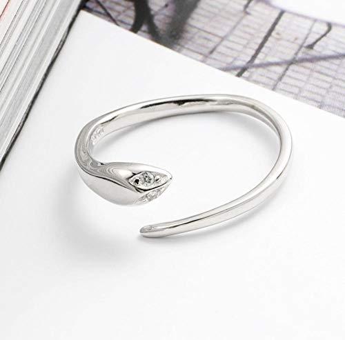 XAFXAL Ring Für Damen 925 Sterling Silber Verstellbar Vintage,Kleine Schlange Tierkreis Persönlichkeit Elegante Böhmen Neuheit Frauen Ring Für Hochzeit Geburtstag Classic Lady Schmuck Ringe