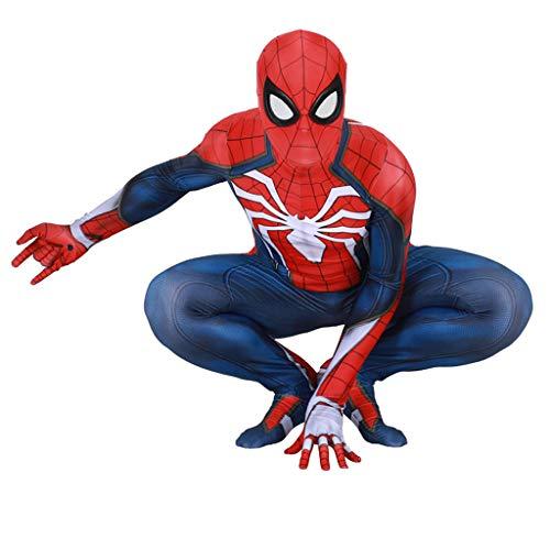 Muster Maskerade Kostüm - YKJL Kinder 3D Spinne Muster Body Cosplay Spiderman Spiele Overall Jungen Kostüm Spider-Man Kostüm Halloween Theme Party Maskerade,Kids01,M