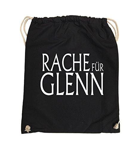 Comedy Bags - RACHE FÜR GLENN - WALKING DEAD - Turnbeutel - 37x46cm - Farbe: Schwarz / Pink Schwarz / Weiss