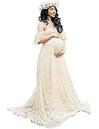 DHLP Vestido de Maternidad Mujer Fiesta Largos Boda Mujer Embarazada Vestidos Faldas de Maternidad Apoyos de