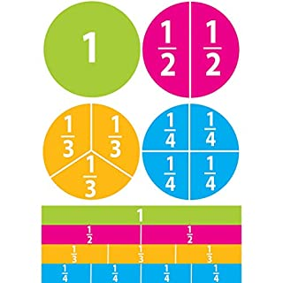 Ashley Productions ASH10062 Beginning Fractions Math Die-Cut Magnets, Multi