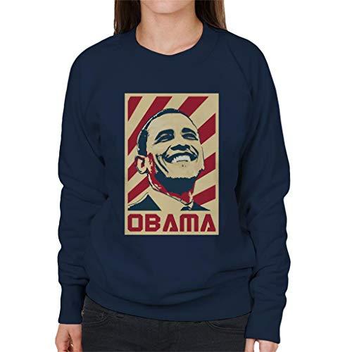 Cloud City 7 Barack Obama Retro Propaganda Women's Sweatshirt Barack Obama Sweatshirt