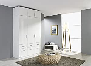 rauch kleiderschrank celle 3trg hochglanz wei mit aufsatz b h t. Black Bedroom Furniture Sets. Home Design Ideas