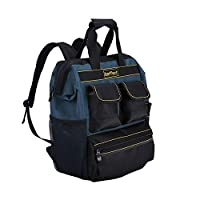 Baffect Tool Backpack with Tool Organiser,Electrician Tool Bag Quick Access Tool Backpack Tradesman Organizer Bag Technician Bag for Electricians Technician
