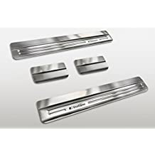 Avisa 2/14100 Umbrales puerta acero inoxidable cepillado 4 piezas, 3M , Molduras decorativas