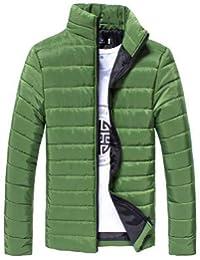 Elecenty Cappotto Uomo inverno sottile invernale con zip da uomo Mantieni  caldo Giacca outwear Casuale con 3b991478707