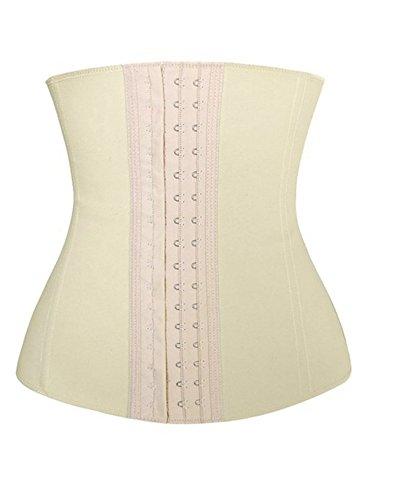 Dilanni in lattice da donna in acciaio con stecche di 3ganci traspirante vita formazione corsetto Cincher Skin L
