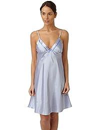 ... Nightwear   Indigo Sky. Ladies Satin Ribbon Trim Chemise in Cornflower  Blue with White Spots Sizes 10 - 18 7d866e882