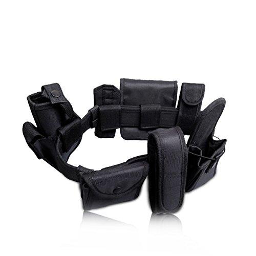 UNIQUEBELLA Einstellbare militärischen taktischer Gürtel/tactical belt Sicherheits system mit 8 funktionale Beutel schwarz für die Outdoor Jagd ,Schwarz (Die Der Tasche Gürtel Und)