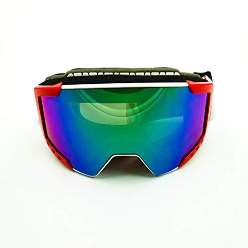Seba5 Home Schutzbrillen, Anti-Fog-Skibrillen, Doppelzylinder, Anti-Scratch und Anti-Scratch, können mit Myopie-Brillen eingesetzt Werden, PC-Explosionssichere Brille (Color : A)