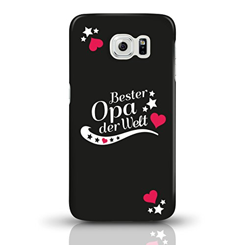 """JUNIWORDS Handyhüllen Slim Case für Samsung Galaxy S6 mit Schriftzug """"Bester Opa der Welt"""" - ideales Weihnachtsgeschenk für den Opa - Motiv 4 - Handyhülle, Handycase, Handyschale, Schutzhülle für Ihr  motiv 1"""