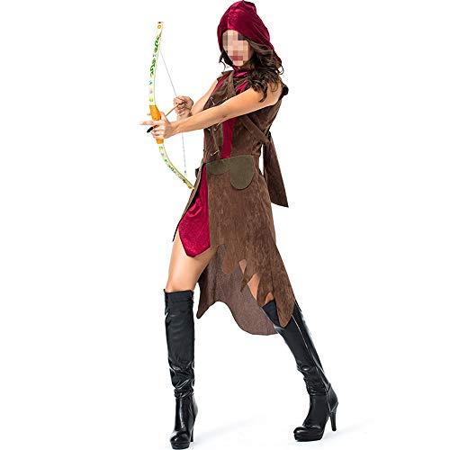 Elfe Krieger Kostüm Sexy - YyiHan Halloween Kostüm, Outfit Für Halloween Fasching Karneval Halloween Cosplay Horror Kostüm,bogenschützenjäger-Cosplay Kriegers-Cosplay Show Halloween-kostüms Alte Mit Köcher