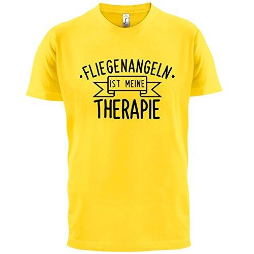 Fliegenangeln ist meine Therapie - Herren T-Shirt - 13 Farben Gelb