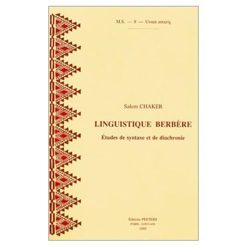 Linguistique berbère : Etudes de syntaxe et de diachronie