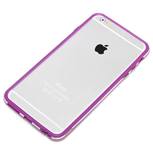 "deinPhone Apple iPhone 6 6S Plus (5.5"") KUNSTLEDER FLIP CASE Hülle Tasche Eulen Happy Family Transparent Lila"