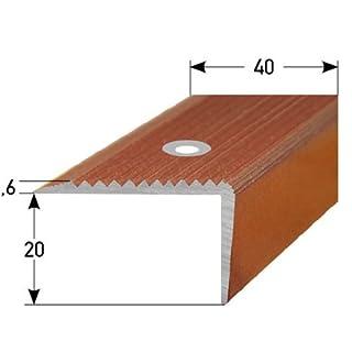 Stair Nosing Profile 50 m (50x 1 m) 20 x 40 mm Aluminium, Special Enamel, Drilled, Blue