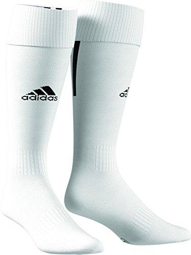 Adidas santos 18, calze uomo, bianco/nero, 43-45