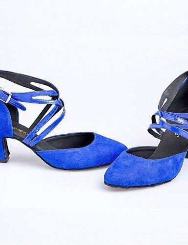 ShangYi Non Customizable Women's Dance Shoes Latin/Yoga/Dance Sneakers/Modern/Swing Shoes/Standard Shoes Suede Cuban Heel Red
