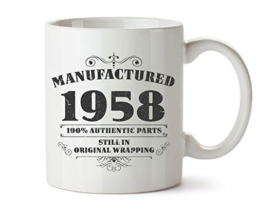 Neuheit bedruckt Tassen hergestellt 1958 60. Geburtstag Kaffee Tasse Geschenk - Becher Kaffee Animal-print