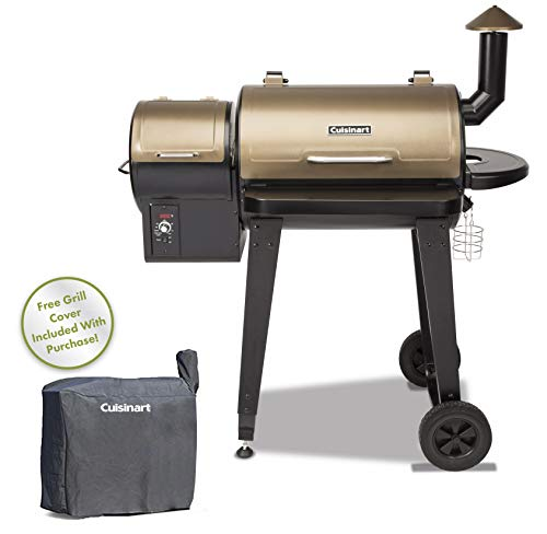 Cuisinart cpg-4000Holz Pellet BBQ Grill & Smoker, 114,3x 123,2x 62,2cm schwarz