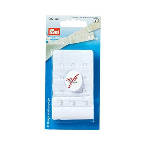 Prym Rallonge Attache de Soutien-Gorge 50 mm 3 x 3 agrafes Blanc