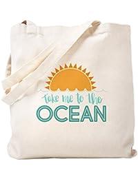 CafePress Take Me to The Ocean Bolsa de color, lona, caqui, Small