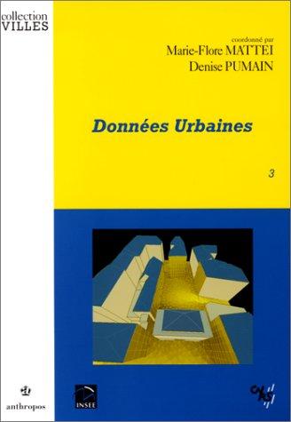 Données urbaines, tome 3