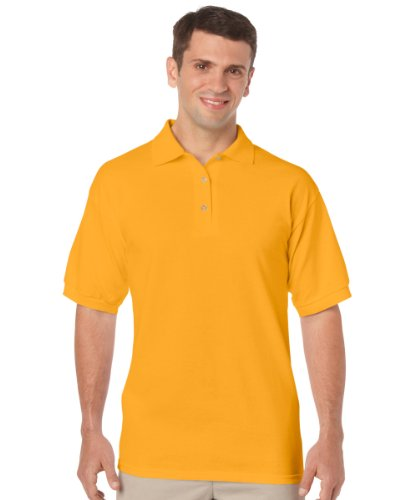 Gildan Mens Dryblend Jersey Polo Colour=gold Size=l