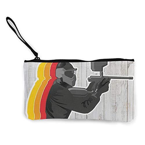 Bargeld Geldbörse, Handy Super Große Kapazität Canvas Tasche Mit Griff, Personalisierte Kosmetische Federmäppchen/Stift Box/Aufbewahrungstasche-Paintball-Zielkampf