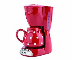 TV - Unser Original 04176200230 Coffeemaxx Keramik Plus mit Timer, Pünktchendekor, rot / weiß