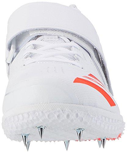 adidas Unisex-Erwachsene Adizero High Jump Spikes Leichtathletikschuhe Weiß (Ftwr White/Solar Red/Silver Metallic)
