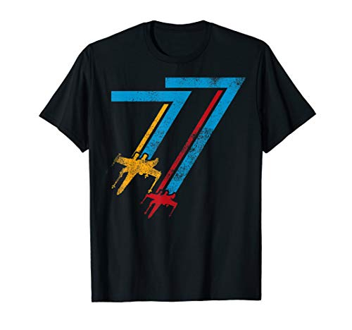 Star Wars Retro X-Wing Fighter '77 Logo T-Shirt