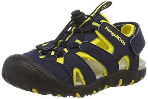 KangaROOS Unisex-Kinder Kangaspeed X1 Geschlossene Sandalen, Blau (Dk Navy/Yellow)