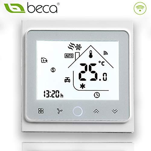 BECA 002 Serie 3/16A Pantalla táctil LCD Agua/Calefacción eléctrica/Caldera Termostato de control...