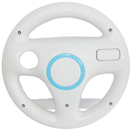 SMARDY Volante Racing/Corse Bianco per Nintendo Wii e Wii U Remote