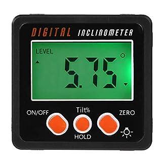Medidor de ángulo, Precision Digital Goniómetro Inclinometro Level, Digital Angle Finder Bevel Box con base magnética