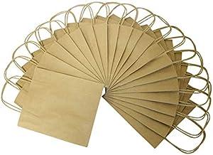 Folia 22410 - de Papel Bolsas de Papel Kraft, 24 x 12 x 31 cm, 20 Piezas, Natural