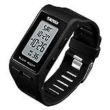 13ea8873ce1f ChengHui Pantalla Reloj electrónico Doble Tiempo Alarma par Reloj Digital  Que Reloj Creativo de los Deportes