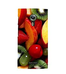 Printvisa Premium Back Cover Assorted Fruits Pattern Design For Alcatel Onetouch Flash 2::Alcatel One touch Flash 2