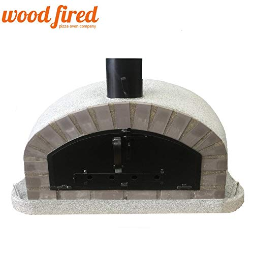 Maxi-Italian Wood Fired Pizza Oven In Light Grey, 100cm